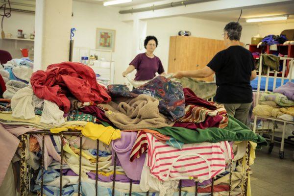מחסן הבגדים והמכבסה